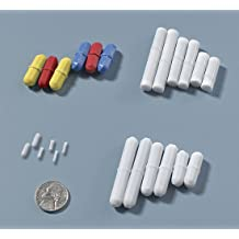 Teflon PTFE Bel-Art F37111-1148 Spin Cylindrical Magnetic Stirring Bar Pack of 50 9.5mm Diameter 31.8 mm Length