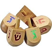 Judaica Mega Mall Chanukkah Dreidel Toy Dreidel Spinner Game White