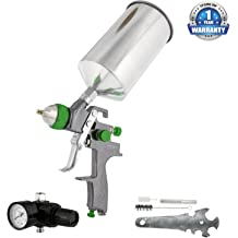 TCP Global Professional Heavy Duty Vacuum Assisted 6 Dual-Action Air Palm Sander with Built-in Dust Collecting Bag /& Hose