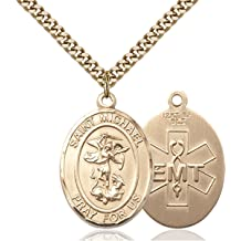 Bernard of Montjoux Hand-Crafted Oval Medal Pendant in Sterling Silver Bonyak Jewelry St
