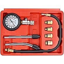 R 8pc Petrol Engine Cylinder Compression Test Tester Kit Automotive Tool HFS