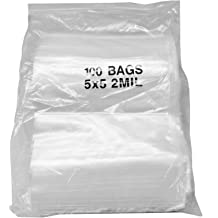 """Reclosable Bag with White Block 2 Mil 3/"""" x 5/"""" Clear Small Bead Baggies 7000 Pcs"""