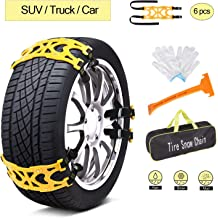 Fit for Car//SUV//Truck//Rv Tire Width 215mm-285mm,Set of 8 Sanku 2020 New Generation Car Snow Tire Chains