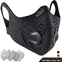 Strap Carbon Camp Air Pollution Dustproof amp;loop Neoprene Activated Adjustable Dust And N99 With Hook Base Filters Mask