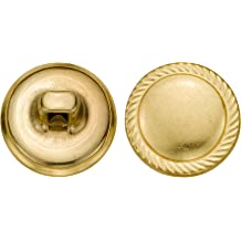C/&C Metal Products 5158 Rope Rim Crest Metal Button 72-Pack Size 24 Ligne Nickel
