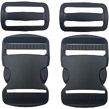 100-1 1//2 Inch YKK Flat Dual Adjustable Side Release Plastic Buckles