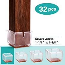 Fit Length 1-1//2 to 1-6//7,Width 1 to 1-1//5 Maydahui 16PCS Rectangle Chair Leg Covers Caps Rubber Hardwood Floors Protector Outdoors Furniture Quadrate Feet Pads