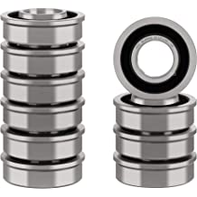 Deep Groove Ball Bearings. Double Shield and Pre-Lubricated Rotate Quiet High Speed and Durable XiKe 10 Pack 6200ZZ Precision Bearings 10x30x9mm