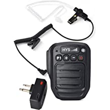 HYS TC-UV52 Hand held Portable Dual Band UHF VHF 136-174Mhz 400-480Mhz 2Meter 70CM 6Watt 2-Way Radio Dual PTT Key Dual Reception 2800mAh Battery 398 Channel DCS CTCSS with Screen Walkie-Talkie