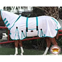 HILASON 66-84 Inches Horse Fly Sheet Uv Protect Mesh Bug Mosquito Summer Spring