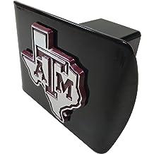 Arizona State University METAL emblem chrome with maroon trim on black METAL Hitch Cover