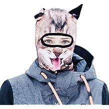 Wind-Resistant Face Mask/& Neck Gaiter,Balaclava Ski Masks,Breathable Tactical Hood,Windproof Face Warmer for Running,Motorcycling,Hiking-Halloween Loving Llamas Headbands On Grey
