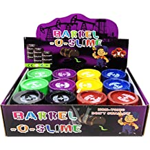 3 NEW BARREL OF SLIME   BARREL-O-SLIME BLACK TAR  BIRTHDAY PARTY FAVOURS PUTTY