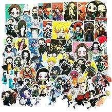 Demon Slayer 50 pcs of Japanese Anime Cartoon Kamado Tanjirou Nezuko for Laptop Skateboard Water Bottle Phone Car Luggage Guitar Computer PS4 New Slayer //Ghost Blade Waterproof Stickers//Decals