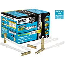"""3//16/""""-24 Toggler 25013 Snaptoggle BA Toggle Bolt for Hollow Walls 50-Count"""