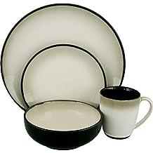 NEW Lot Set of 2 Sango PRELUDE BLACK Rectangular Salad Plate 4508 Rectangle