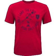 Bright Orange Kids Large MLS by Outerstuff Boys War Paint Logo Short Sleeve Tee 7
