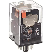 Omron MKS2PIN DC24 General Purpose Relay with Mechanical Indicator and Lockable Test Button LED Indicator Type 24 VDC Rated Load Voltage Plug-In Terminal Standard Internal Connections 55.8 mA Rated Load Current Double Pole Double Throw Contacts