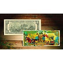 MARILYN MONROE PURPLE Rency Urban Street Art $2 Bill Signed #//70