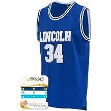 549379e75f32 AFLGO Jesus Shuttlesworth  34 Lincoln High School Basketball Jersey S-XXXL  Blue