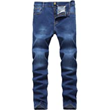 0116443e58c0 FREDD MARSHALL Men's Skinny Slim Fit Stretch Straight Leg Fashion Jeans  Pants