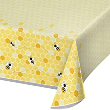 Cotton Bee Creative Honeycomb Golden Cotton Fabric Print by the Yard D487.21