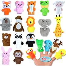 Plush Animal Finger Puppets Animal Zoo Family Finger Puppets Velvet Role Playing Toys Story Time Puppets Gift for Kids Toddlers Party Game Prizes 30 PCS Finger Puppet Toys Easter Basket Stuffers