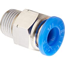 MettleAir MSC 10-N03 Push to Connect Meter Out Male Speed Control Fitting 3//8 NPT Pack of 10 10 mm OD