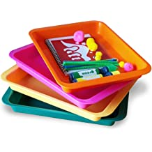 Painting and Montessori Work Arts and Crafts Organizer Tray Beads Serving Tray Great for Crafts Rainbow of Colors orbeez Water Beads Set of 8 Kids Activity Plastic Tray