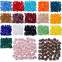 LONGWIN 100pcs 6mm Small Cube Crystal Loose Beads DIY Jewelry Making Supplies