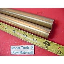 "3/"" C360 BRASS ROUND ROD 1.5/"" long Solid 3.00/"" OD H02 Lathe Bar Stock Half Hard"