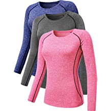 ea6d76c57dae Neleus Women's 3 Pack Dry Fit Athletic Compression Long Sleeve T Shirt