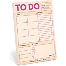 - Daily Planner Pad /& To Do Pads Pastel Version Knock Knock Plan of Attack Pad 6 x 9-inches