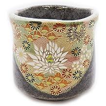 "Japanese 3-5//8/"" H Sushi//Tea Cup Yunomi Oribe Ink Dragon// Made in Japan"