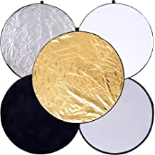 Konseen Portable Circular Collapsible Lens-Mount Light Reflector 12//30CM 2-in-1 Gold /& Silver Long-Lasting Zippered Carrying Case