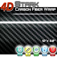 "*60/""x84/"" 4D Gloss Yellow Carbon Fiber Vinyl Wrap Sticker Bubble Free Air Release"
