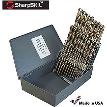 Gyros 45-51030 Premium Industrial Grade Cobalt Jobbers Length Pack of  12 Size #30 135 Degree Point Drill Bit
