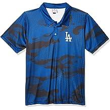 FOCO MLB Men/'s Los Angeles Dodgers Busy Block Ugly Crew Neck Tee