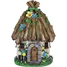 VP Home Mystic Gnome Fairy House with Color Changing LED Solar Garden Light