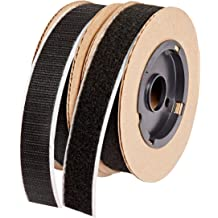 Loop Type Pressure Sensitive Adhesive Back 1//2 Wide 10 Length VELCRO 1001-AP-PSA//L Black Nylon Woven Fastening Tape