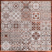 Crafting Wood 6X6 Scrapbook and Printing on Paper 2 pcs Fabric Tile | Reusable Painting Template for Home Decor Tribal Potters /& Tribal Dancers DIY Albums CrafTreat Stencil Wall Floor
