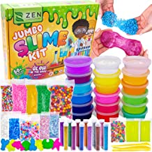 9f4700c90 DIY Slime Kit for Girls Boys - Ultimate Glow in the Dark Glitter Slime  Making Kit - Slime Kits Supplies include Big Foam Beads Balls, 18 .
