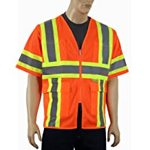 Safety Depot Cold Climate Safety Jacket ANSI Approved Class 3 Medium Reversible Water Resistant with Pockets