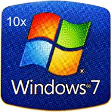 882x10 10 Pieces of VATH Made Compatible Microsoft Windows 10 Metal Sticker 16 x 23mm